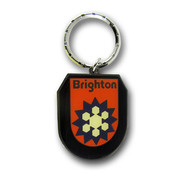 Brighton Logo Ski Resort Keychain