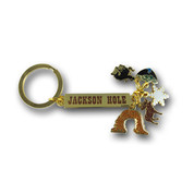 Jackson Hole Charms Ski Resort Keychain Front