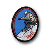 Vail Oval Snowboarder Patch