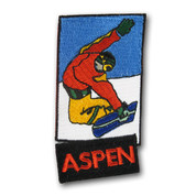 Aspen Rectangle Snowboard Ski Resort Patch
