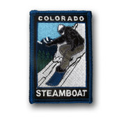 Steamboat Snowboarder Patch