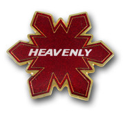 Heavenly Red Flake Ski Resort Magnet