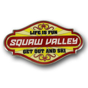 "Squaw Valley ""LIfe is Fun"" Ski Magnet"