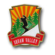 Squaw Valley Black Skier Ski Magnet