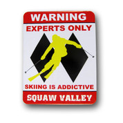Squaw Valley Double Diamonds Ski Magnet