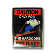Red River Caution Magnet