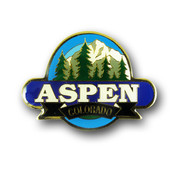 Aspen Mountain and Trees Magnet