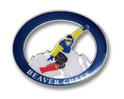 Beaver Creek Snow Board Magnet