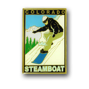 Steamboat Snowboarder Magnet
