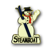 Steamboat Snowman Magnet