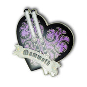 Mammoth Heart Ski Resort Pin