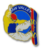 Squaw Valley Snowboarder Ski Resort Pin