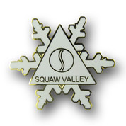 Squaw Valley White Flake Ski Resort Pin