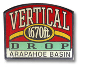 Arapahoe Basin Red Ski Resort Pin