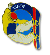 Aspen Snowboard Ski Resort Pin