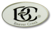 Beaver Creek White Logo Ski Resort Pin