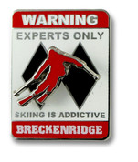 Breckenridge Experts Only Ski Resort Pin