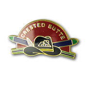 Crested Butte Hat Ski Resort Pin