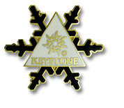 Keystone Black Flake Ski Resort Pin