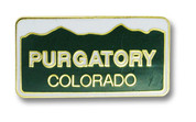 Purgatory Plate Ski Resort Pin