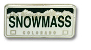 Snowmass Plate Ski Resort Pin