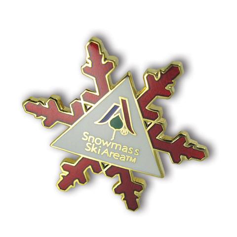 Snowmass Snowflake Ski Resort Pin