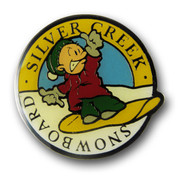 Silver Creek Cartoon Ski Resort Pin
