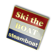 "Steamboat ""Ski the Boat"" Ski Resort Pin"