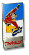 Steamboat Rectangular Ski Resort Pin