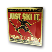Summit County Skier Ski Resort Pin