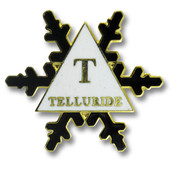 Telluride Black Flake Ski Resort Pin