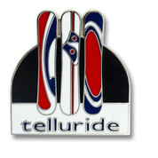 Telluride Three Boards Ski Resort Pin