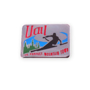 Vail Rectangle Ski Resort Pin