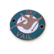 Vail Round Ski Resort Pin