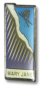 Mary Jane Cliff Skier Ski Resort Pin