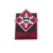 Winter Park Black & Red Ski Resort Pin