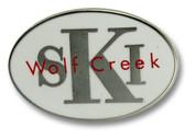 Wolf Creek White Oval Ski Resort Pin