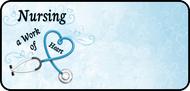 Nursing Work Blue