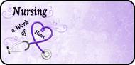 Nursing Work Purple
