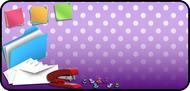 Office Purple Dots