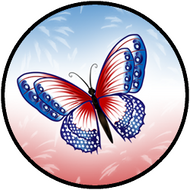 Patriotic Butterfly BR
