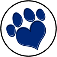 Heart Paw Blue BR