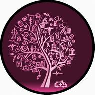 Med Sketch Tree Pink BR