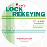 Basic Lock Rekeying CD - Featuring 6 pdf ebooks