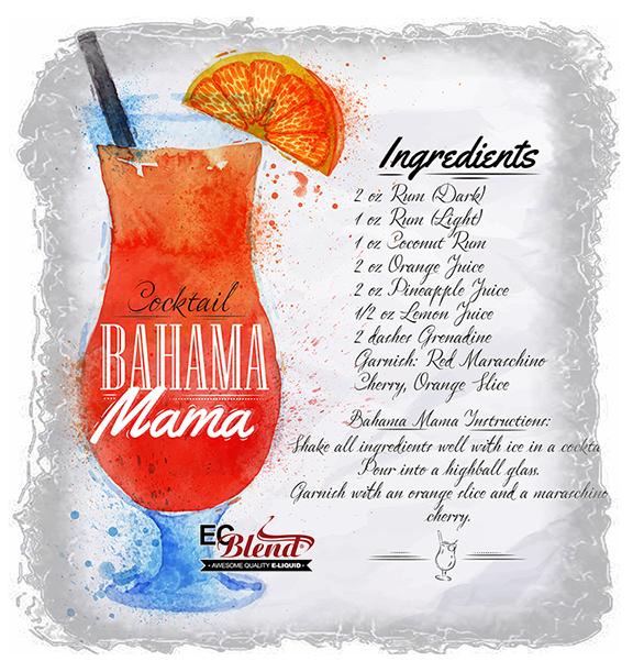 ECBlend Bahama Mama E-Liquid - Very Popular!