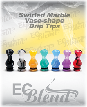 Acrylic Swirl Marbled drip tip at ECBlend Flavors