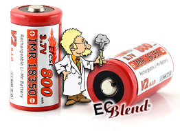Efest IMR Button Top 3.7v Battery at ECBlend Flavors
