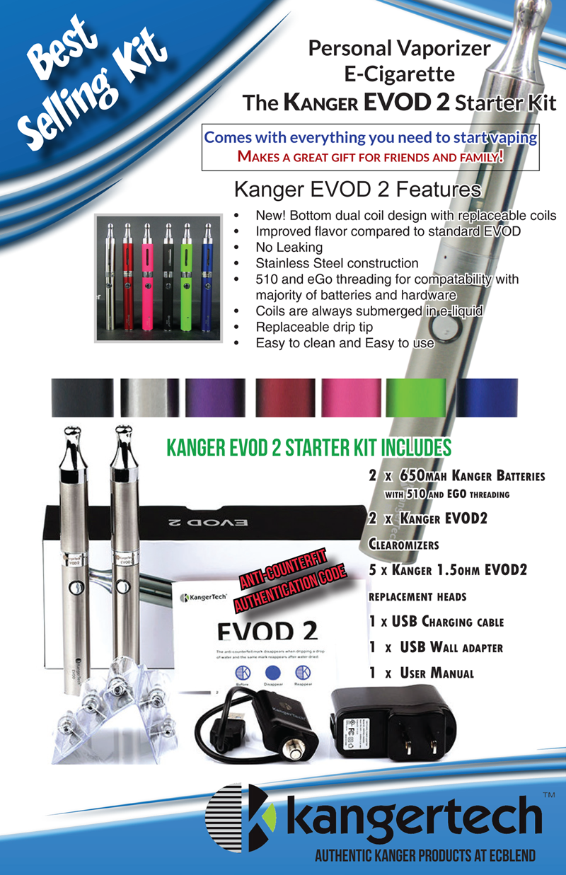 Kanger EVOD2 Starter Kit by ECBlend