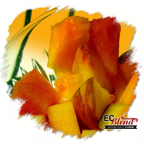 Peach Watermelon Cantaloupe by ECBlend Flavors - Simply Incredible!