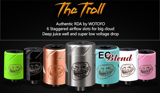 Rebuildable Atomizer - Wotofo - Troll RDA at ECBlend E-Juice and Vaping